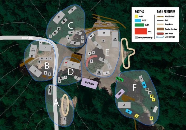 Evergreen MTB Festival Layout Map